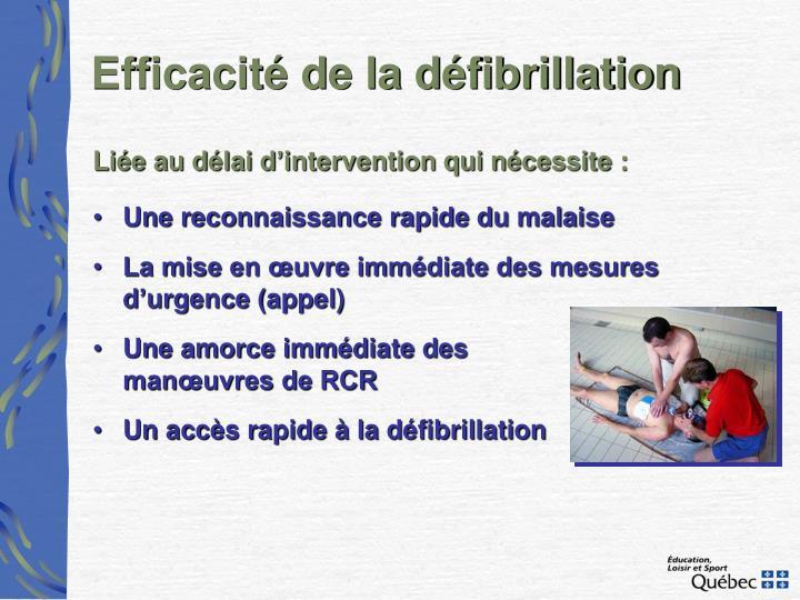 Efficacité de la défibrillation