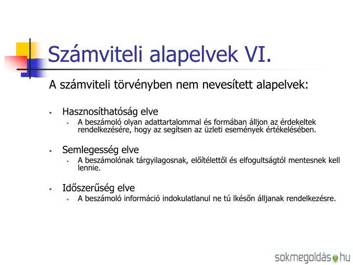 Számviteli alapelvek VI.