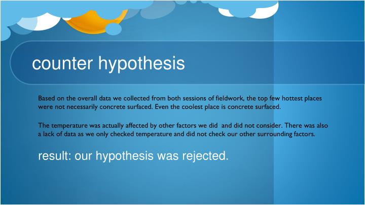 counter hypothesis