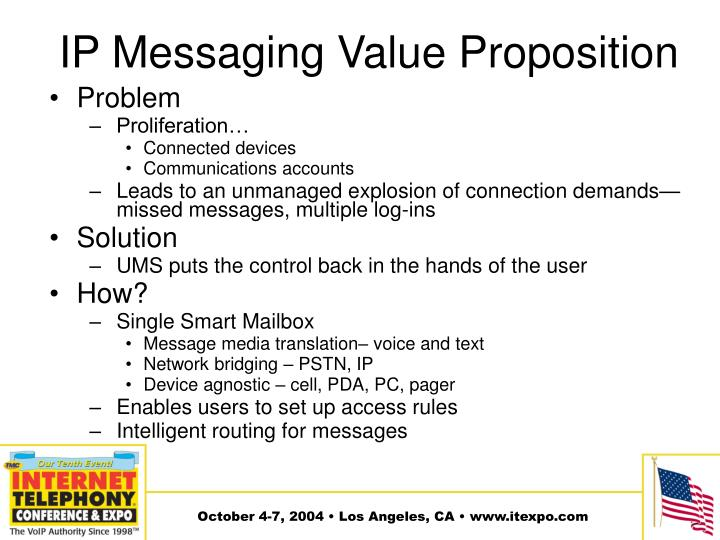 IP Messaging Value Proposition