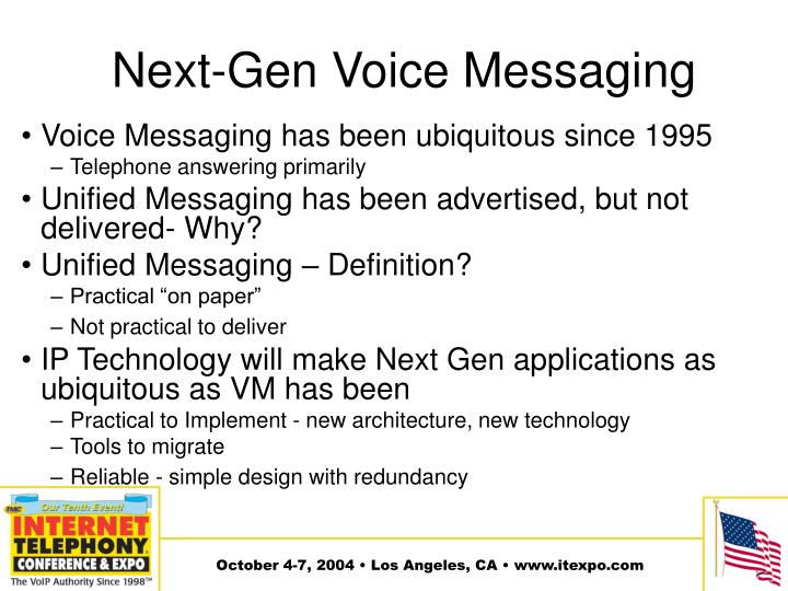 Next-Gen Voice Messaging