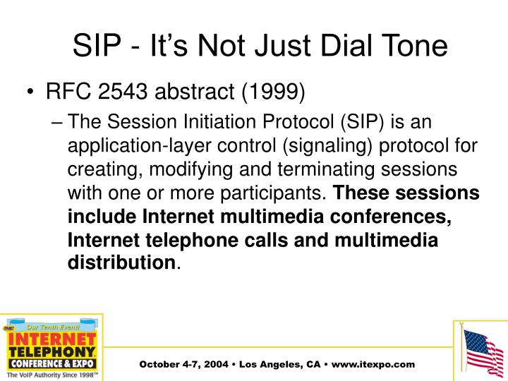 SIP - It's Not Just Dial Tone