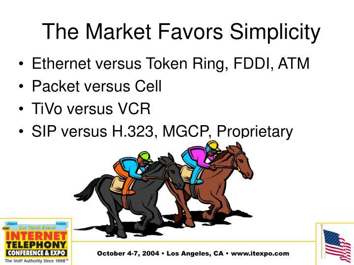 The Market Favors Simplicity