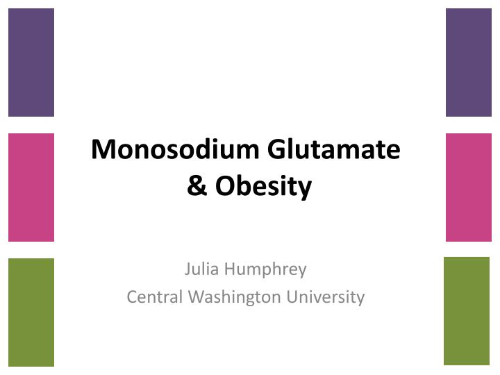 Monosodium glutamate obesity