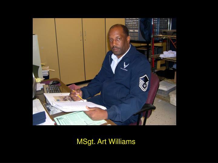 MSgt. Art Williams