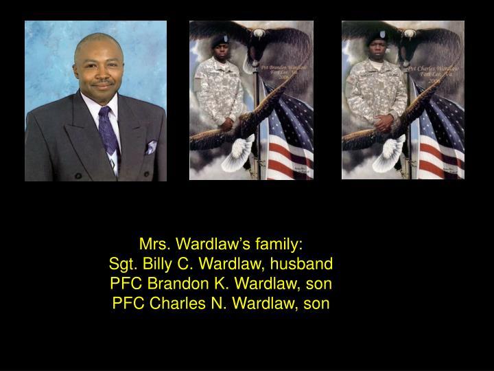 Mrs. Wardlaw's family: