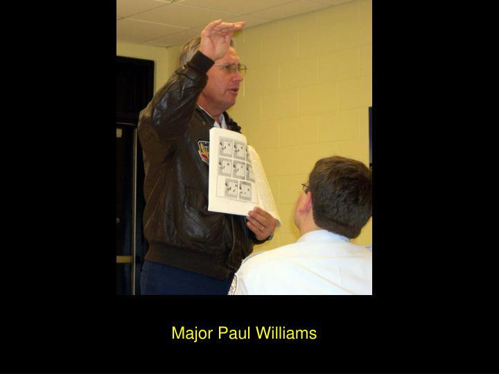 Major Paul Williams
