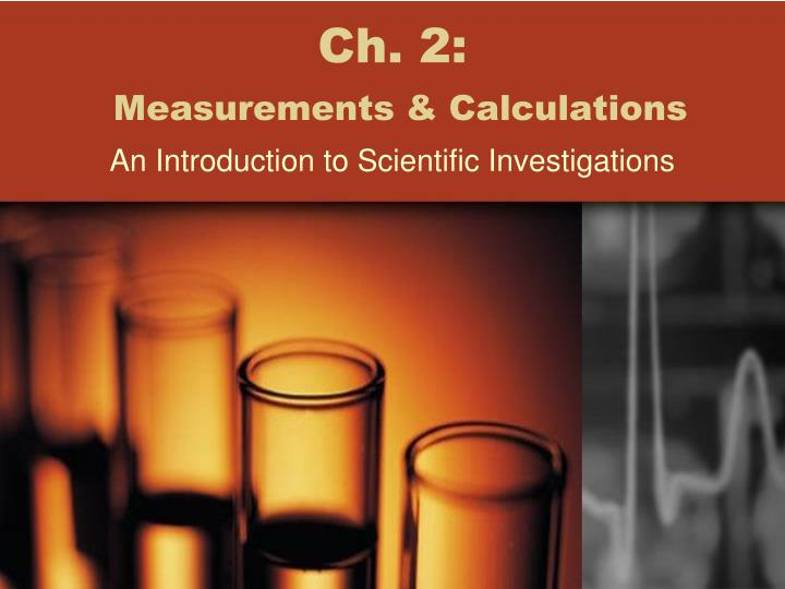 Ch 2 measurements calculations