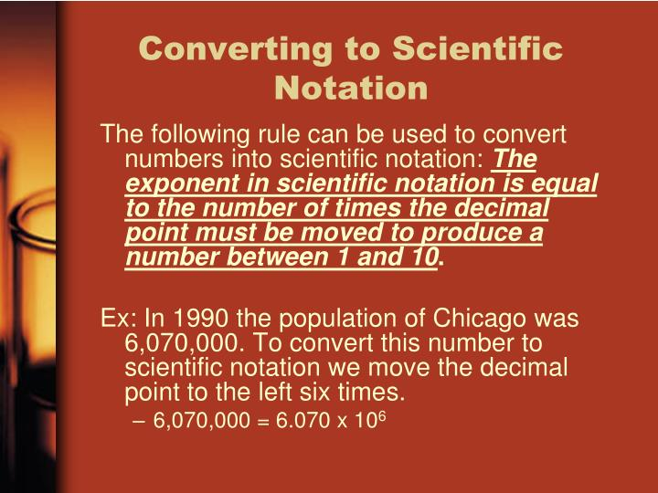 Converting to Scientific Notation
