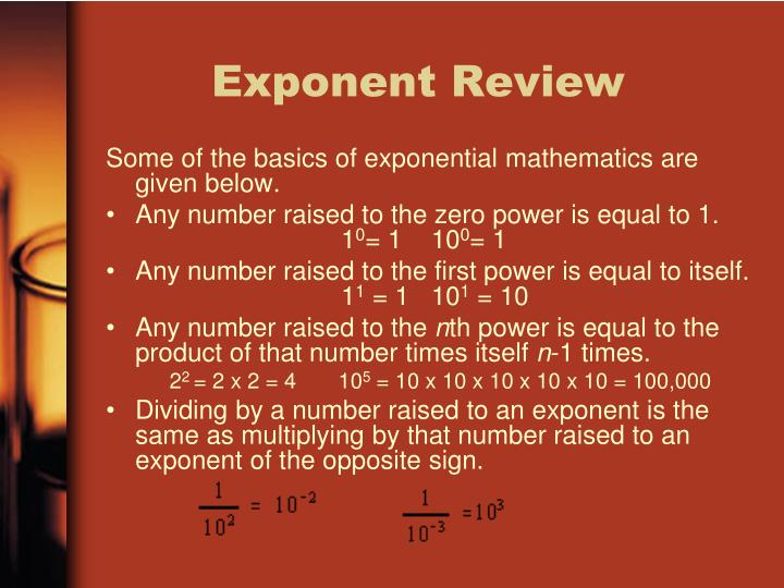 Exponent Review
