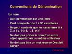 conventions de d nomination