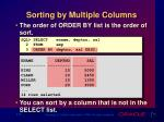 sorting by multiple columns