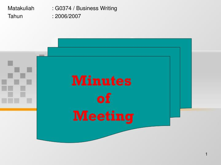 Matakuliah g0374 business writing tahun 2006 2007