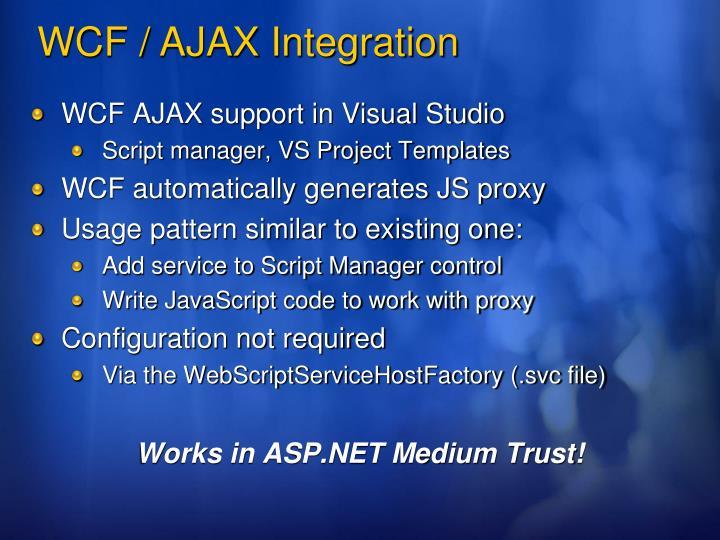 WCF AJAX support in Visual Studio