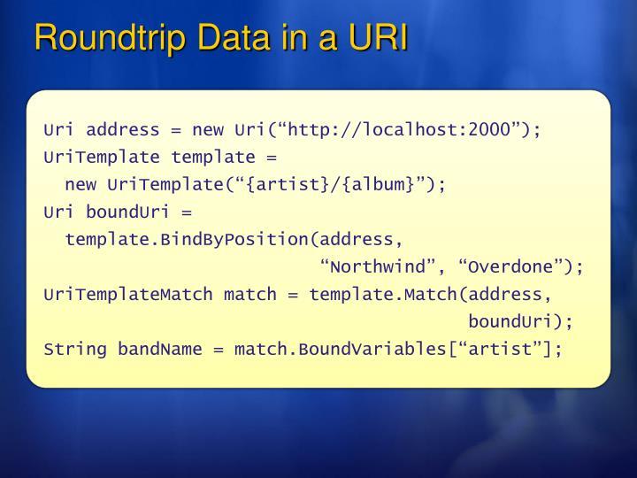 Roundtrip Data in a URI