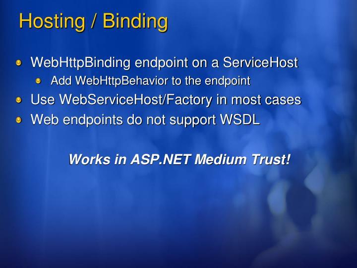 WebHttpBinding endpoint on a ServiceHost