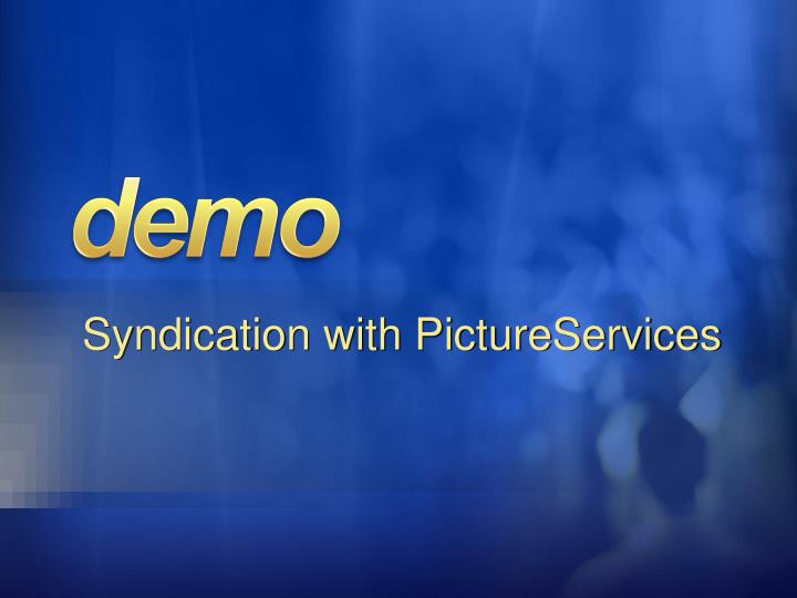 Syndication with PictureServices