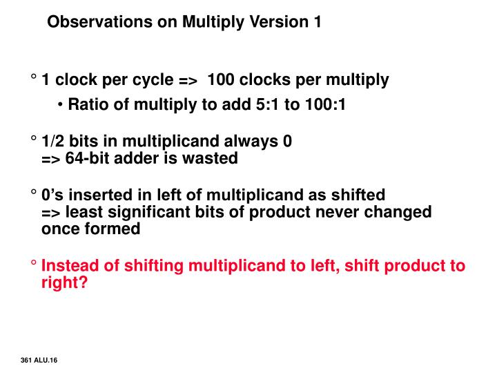 Observations on Multiply Version 1