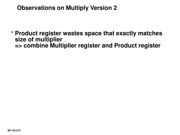 Observations on Multiply Version 2