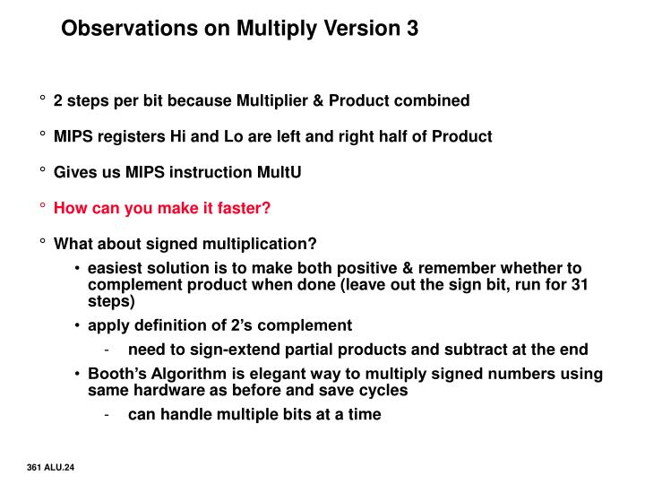 Observations on Multiply Version 3