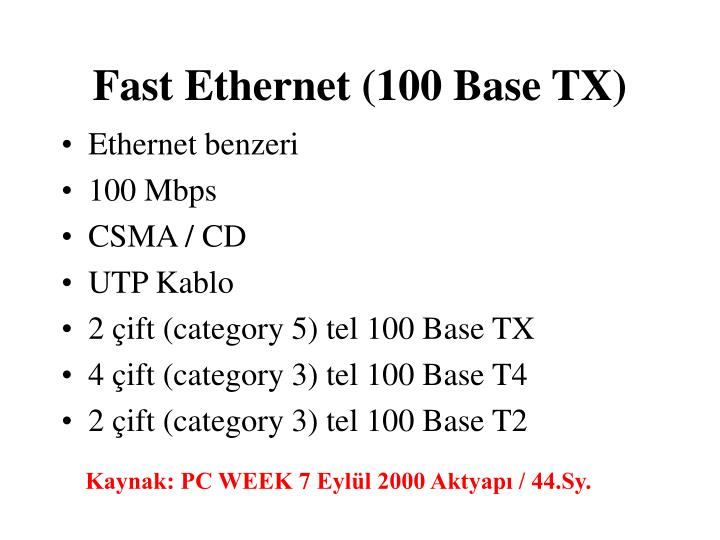 Fast ethernet 100 base tx