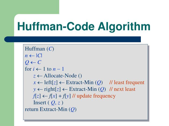Huffman-Code Algorithm