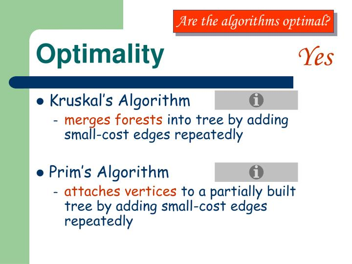 Are the algorithms optimal?
