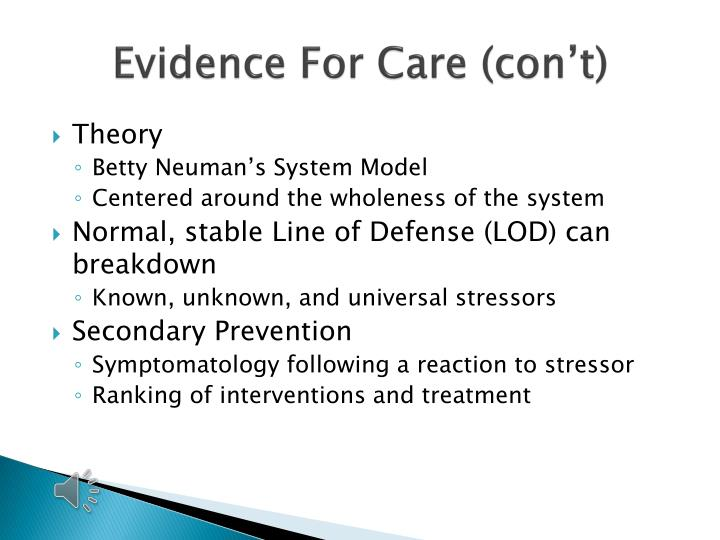 Evidence For Care (