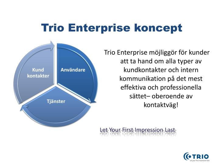 Trio Enterprise koncept