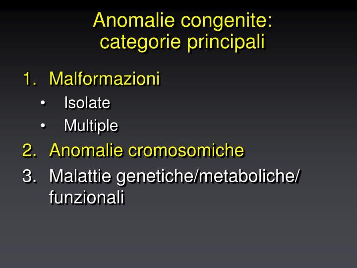 Anomalie congenite: