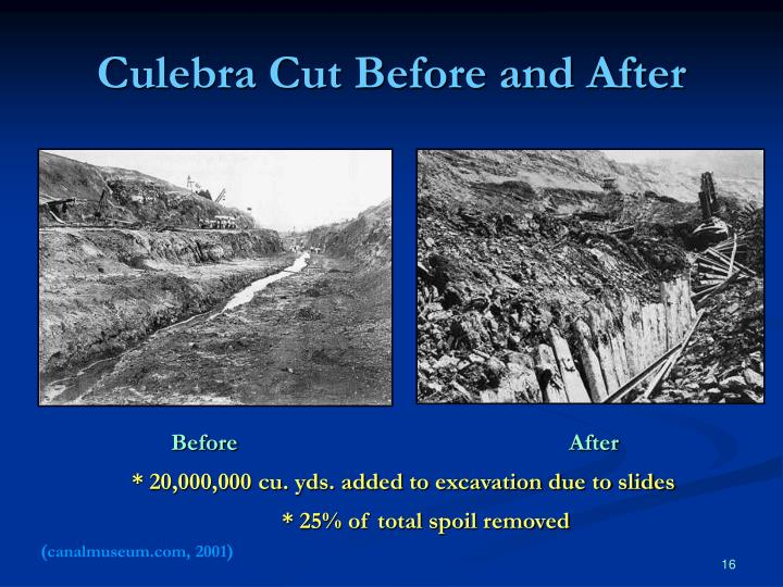 Culebra Cut Before and After