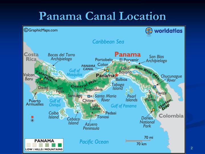 Panama Canal Location