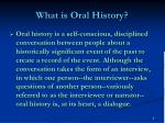 what is oral history