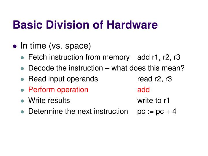 Basic Division of Hardware
