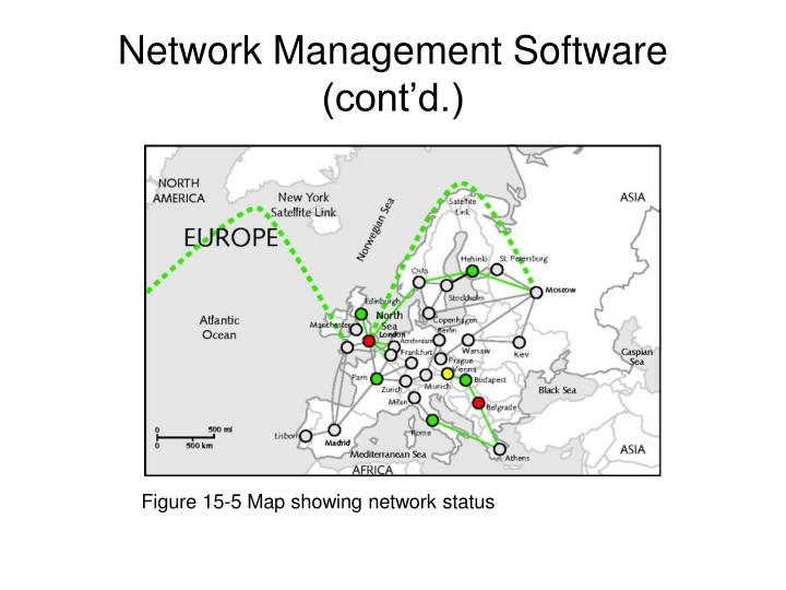 Figure 15-5 Map showing network status