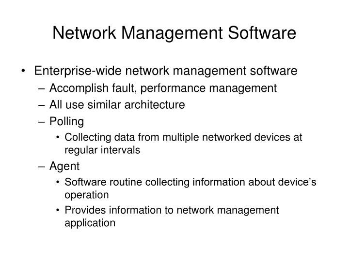 Network Management Software