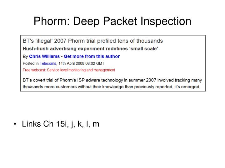 Phorm: Deep Packet Inspection