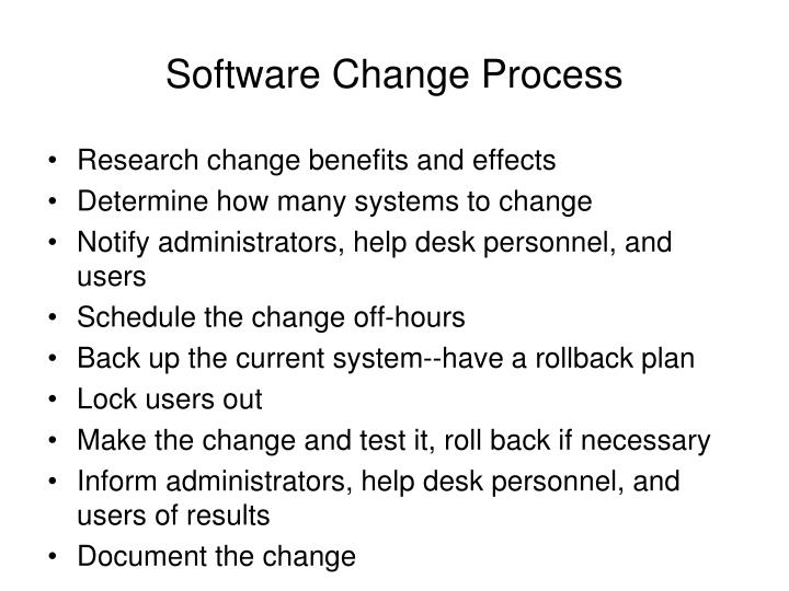 Software Change Process