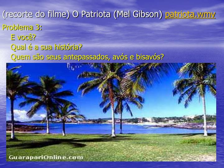 (recorte do filme) O Patriota (Mel Gibson)