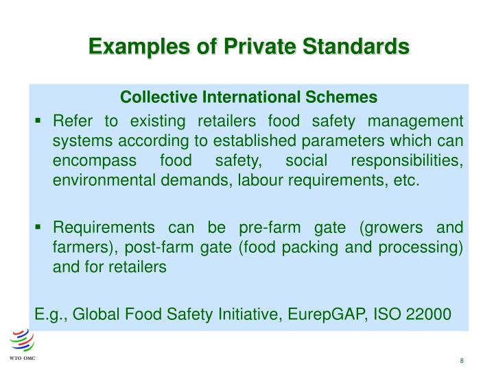 Examples of Private Standards