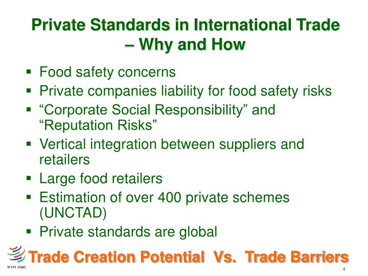 Private Standards in International Trade – Why and How