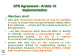 sps agreement article 13 implementation