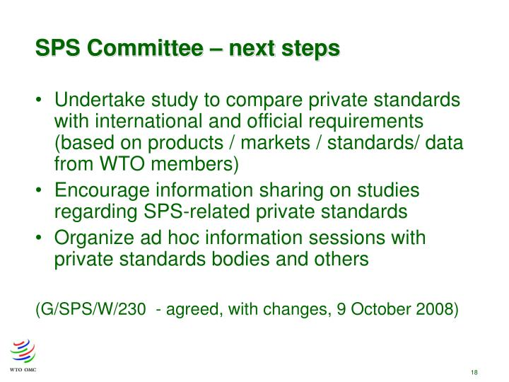 SPS Committee – next steps