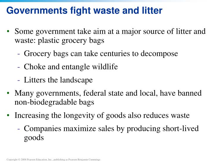 Governments fight waste and litter