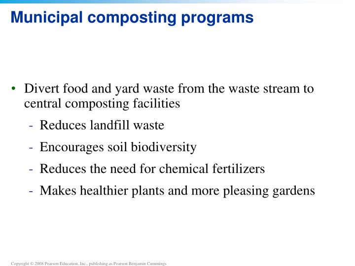 Municipal composting programs