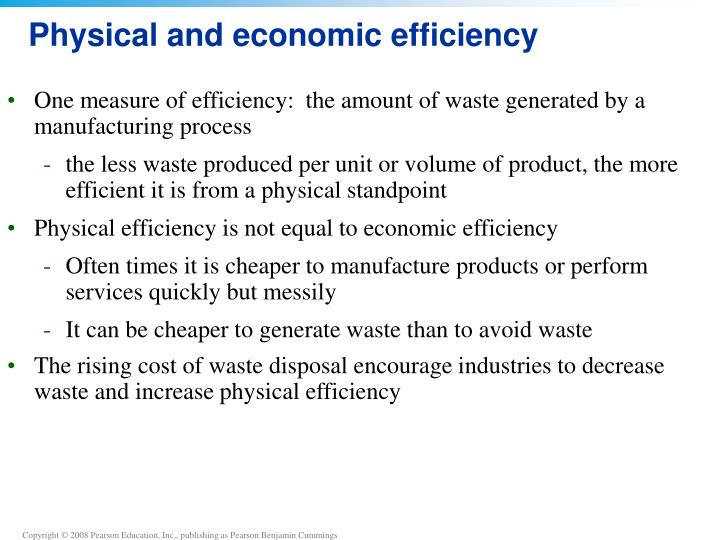 Physical and economic efficiency