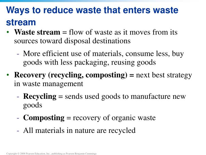 Ways to reduce waste that enters waste stream
