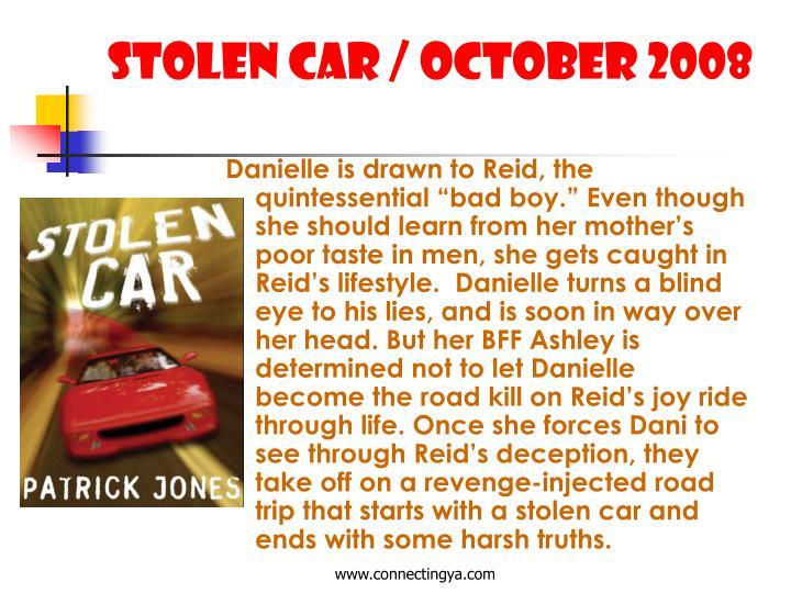 Stolen Car / October 2008