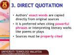 3 direct quotation