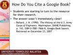 how do you cite a google book